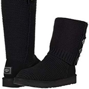 UGG Black Quilted Boots Size 7